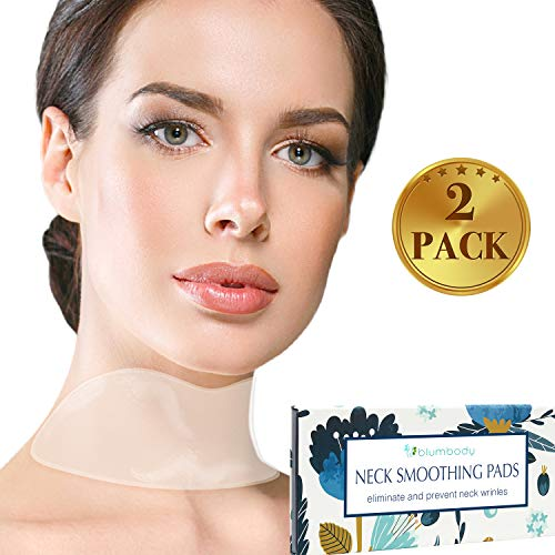Blumbody Neck Wrinkle Pads - Set of 2 Silicone Patches for Wrinkles Treatment and Prevention - Reusable Pad Anti Wrinkle Remover for Collette