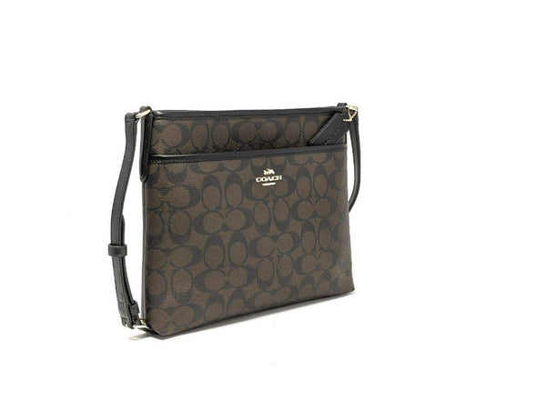 Coach FILE CROSSBODY IN SIGNATURE CANVAS, Im/Brown/Black, One Size