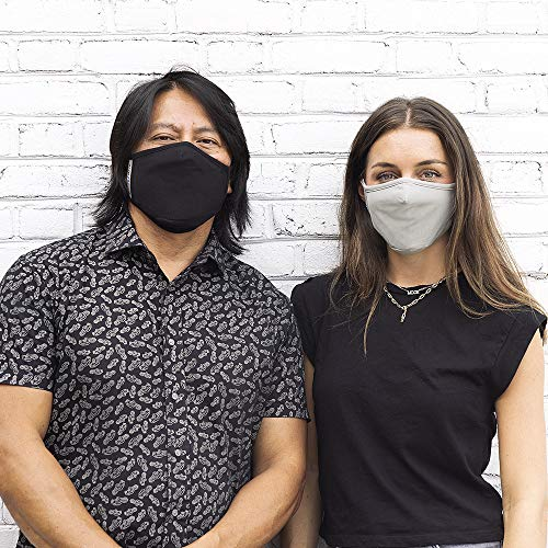 Safe+Mate x Case-Mate - Cloth Face Mask - Washable & Reusable - Adult L/XL - Cotton - with Filter - 3 Pack - Black