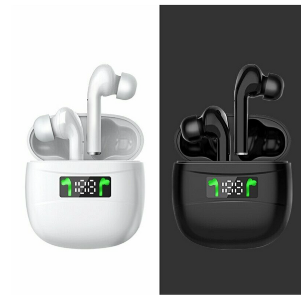 J3 Pro TWS Headphone LED Wireless Bluetooth 5.2 Earphones Mini Earbuds With Mic