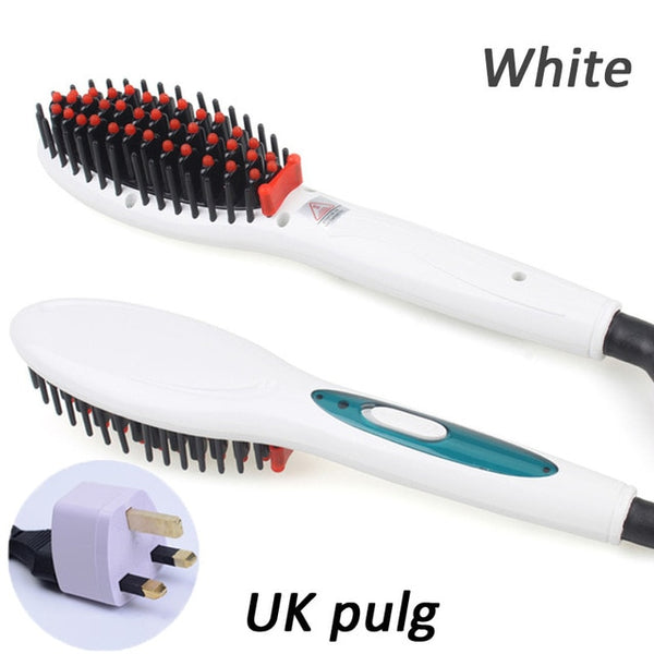 Ceramic Hair Straightener Combs Fast Hair Brush Professional Electric Hair Massager  Irons Auto Heating Straight Hair Tool