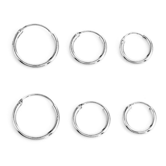 Simple Round Circle Small Ear Stud Earring