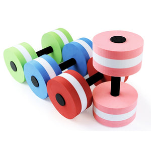 1Pc Water Floating Dumbbell Swimming Aerobics Aquatic Barbell Sport Yoga Fitness Dumbbells Thickened Handle Exercise Equipments