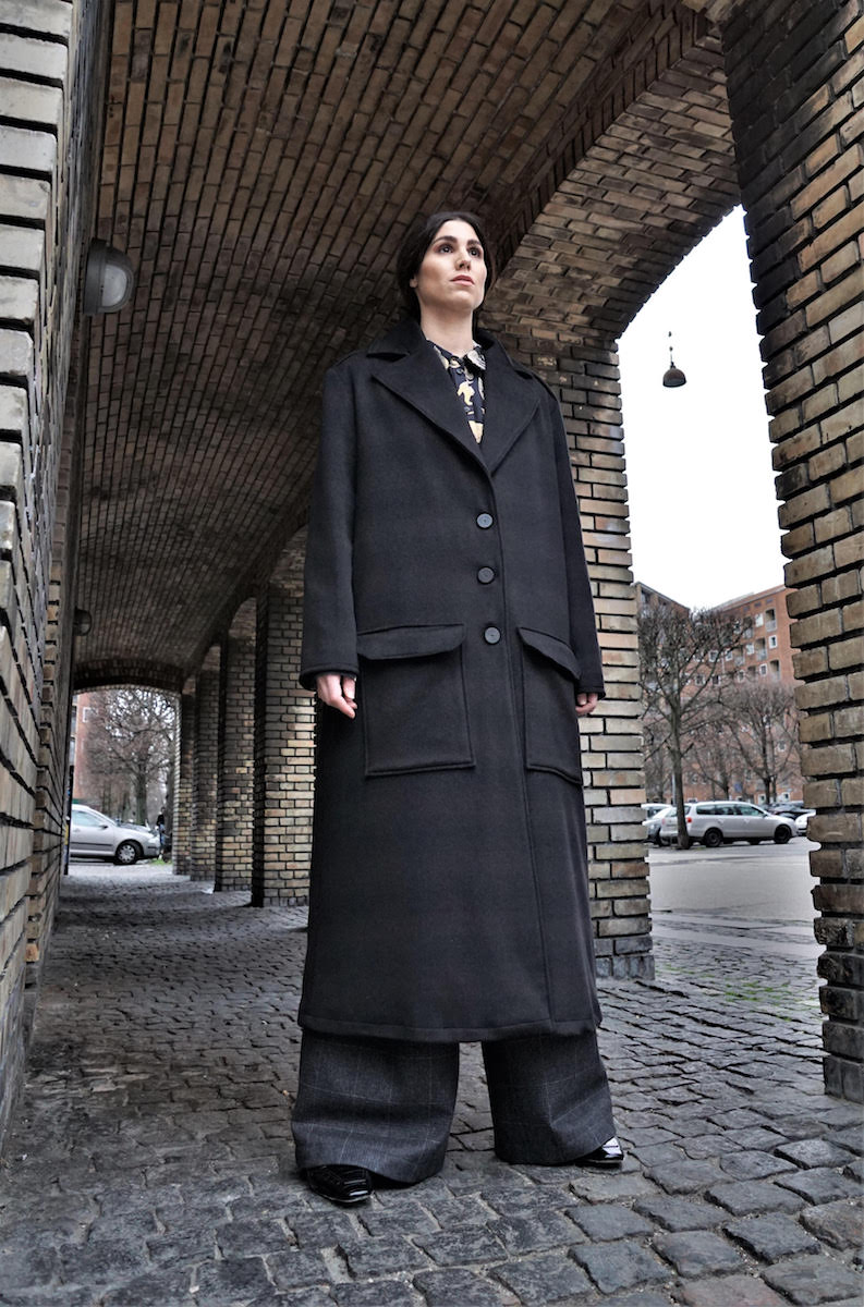 Checkerd Wool Coat