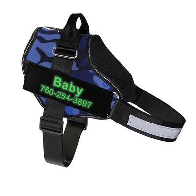 Personalized Dog Harness Reflective Glowing Pet Harness Vest