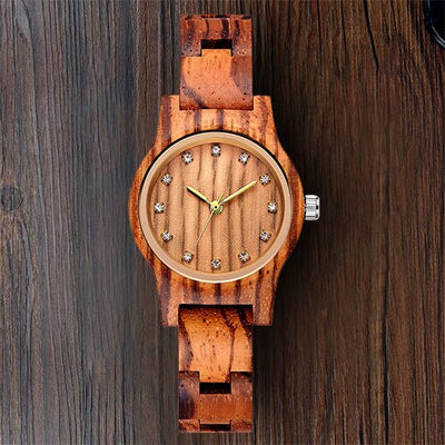 Reloj Femenino New Design Wooden Watch Women Small Gold Pointer Antique Luxury Female Slender Band Watch Lady Gift Drop Shipping
