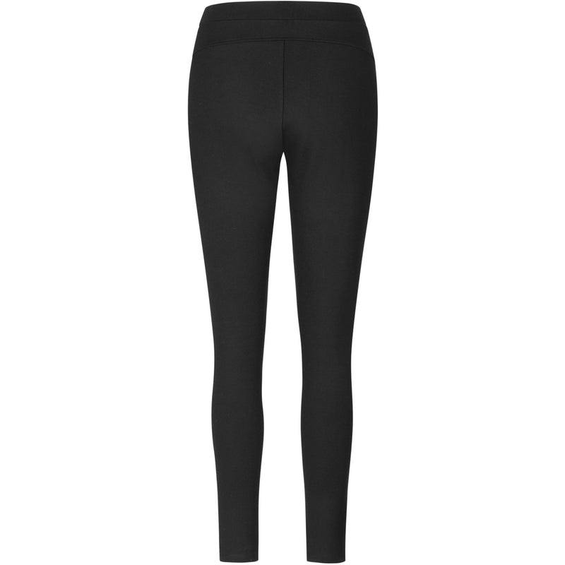 sort stretch leggings med elastisk taljebånd