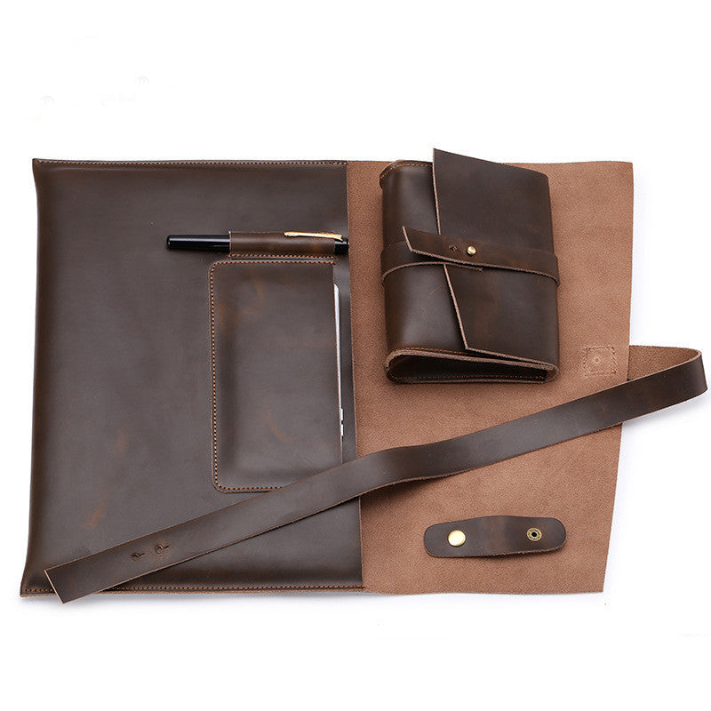 pochette sacoche cuir macbook ordinateur