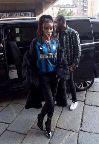Winnie Harlow Nike Inter Mashup Jersey Milan Fashion Week