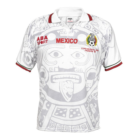 1998 Mexico Away White Retro Jersey