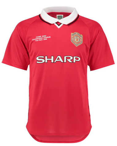 Manchester United Retro 1999 Champions League Final Jersey