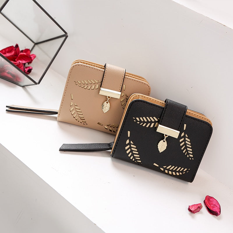 Hollow Leave Pouch Handbag