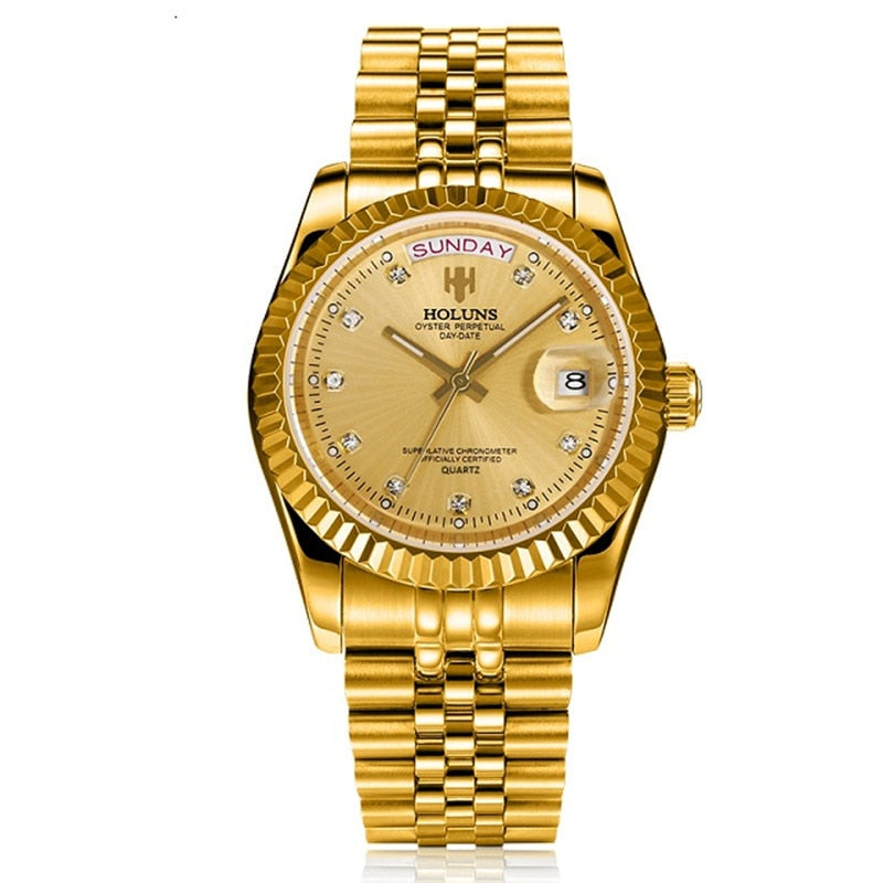 Holuns Men top Luxury watch Gold Diamond Role