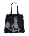 Black Distressed Tote Bag
