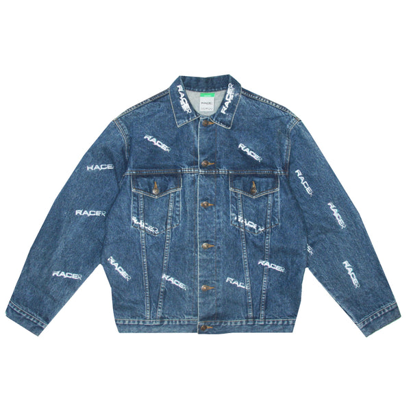 Racer Lab® Monogram Vintage Denim Jacket