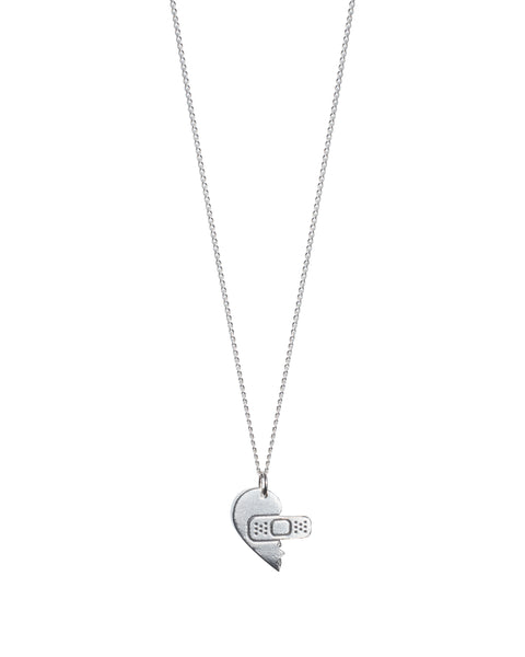 Sweetheart Silver Friendship Necklace