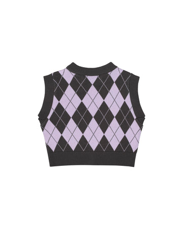 Purple Diamond Crop Top