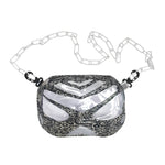 Snakeskin Clear Waist Bag