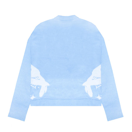 vitunleija® x Racer Worldwide® Baby Blue Knit Sweater