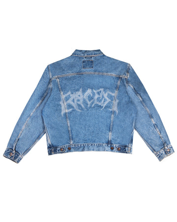 Racer Lab® Laser Engraved Vintage Levi's Denim Jacket