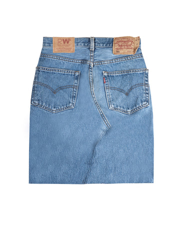 Racer Lab® Laser Engraved Vintage Levi's Denim Skirt