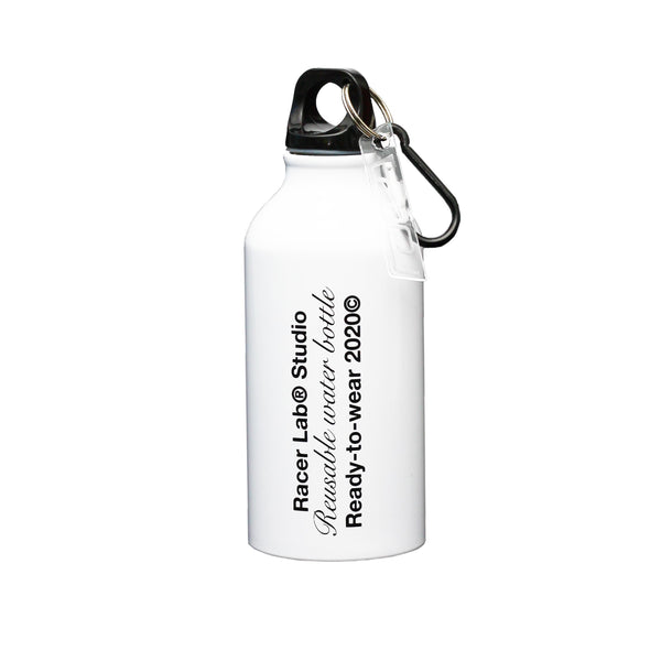 White Racer Refillable Bottle