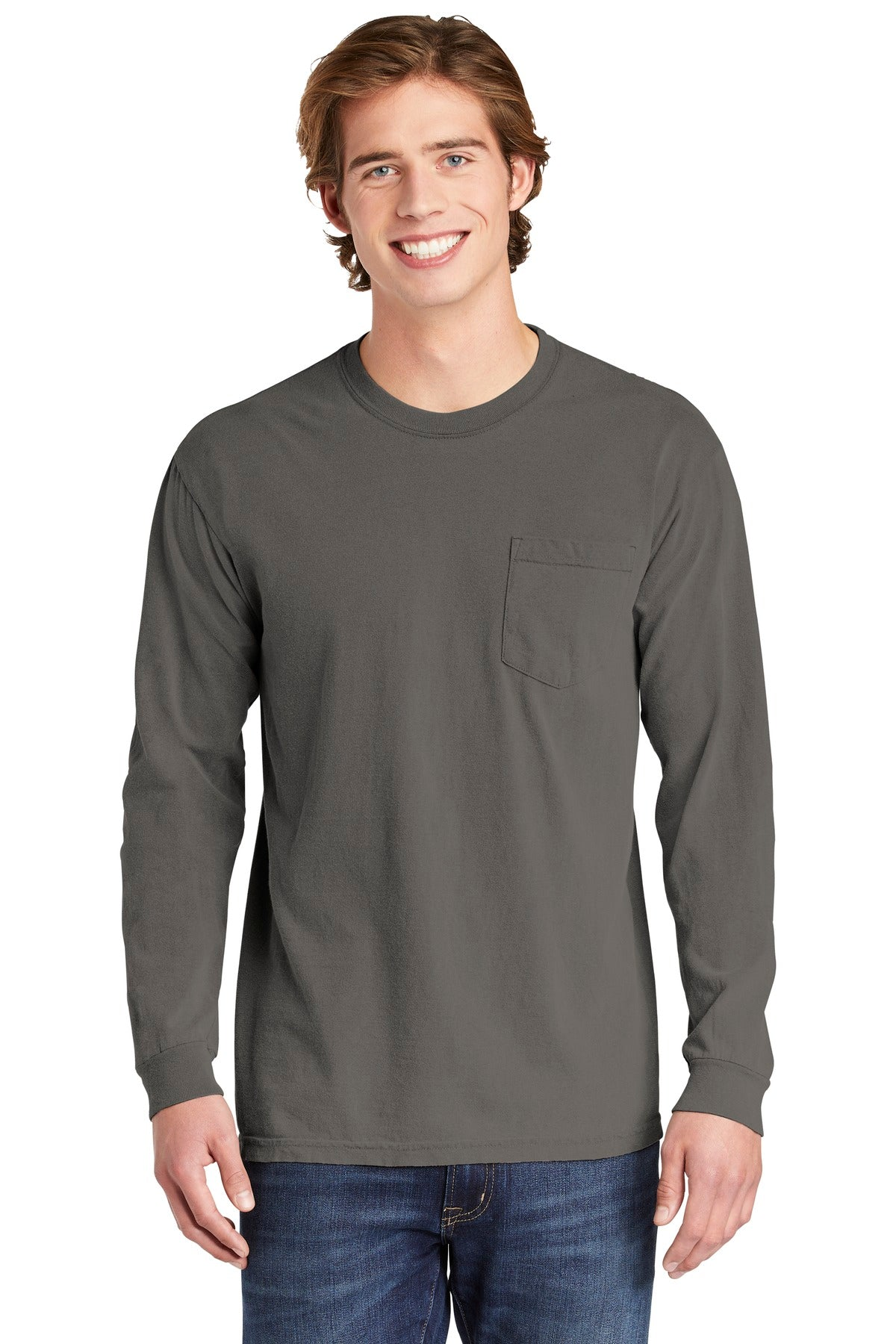 COMFORT COLORS ® Heavyweight Ring Spun Long Sleeve Pocket Tee. 4410 - Aspire Zone