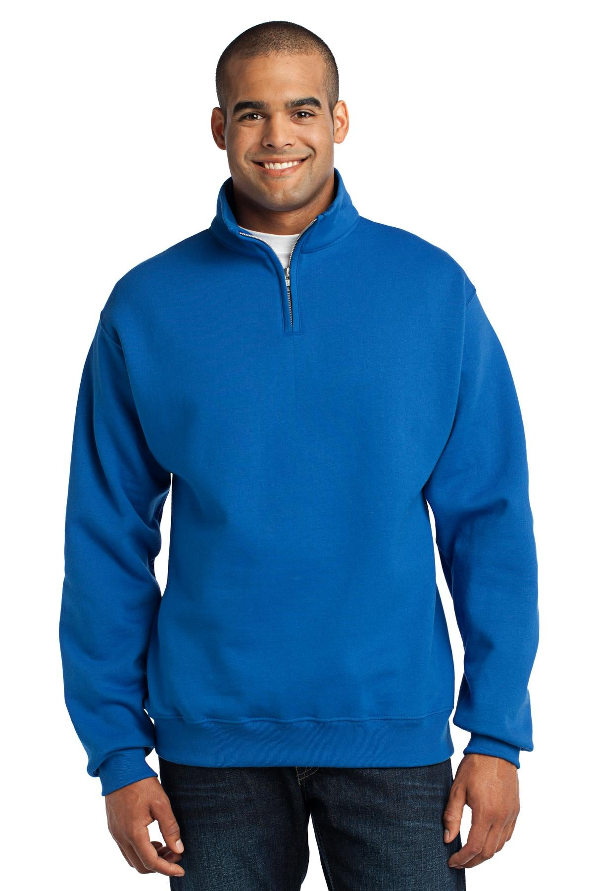 JERZEES® - NuBlend® 1/4-Zip Cadet Collar Sweatshirt. 995M - Aspire Zone