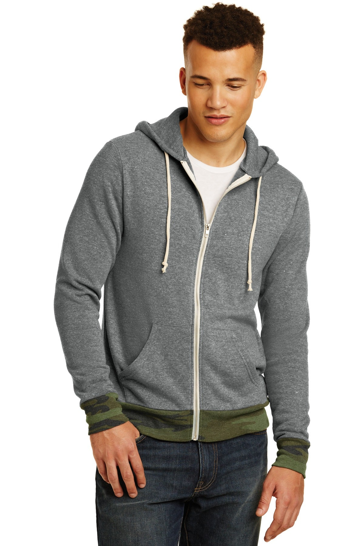 Alternative  Rocky Eco™-Fleece Zip Hoodie. AA9590 - Aspire Zone