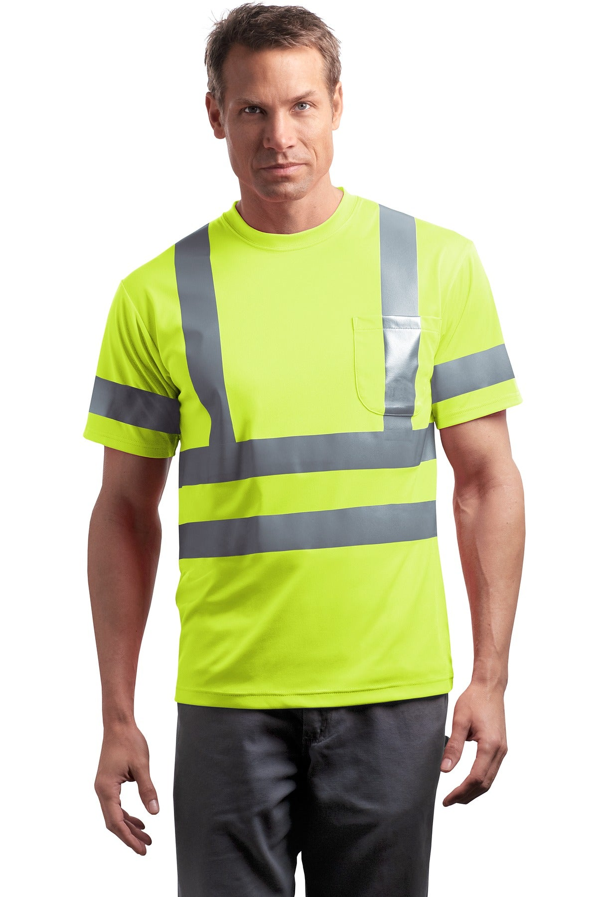 CornerStone® - ANSI 107 Class 3 Short Sleeve Snag-Resistant Reflective T-Shirt. CS408 - Aspire Zone