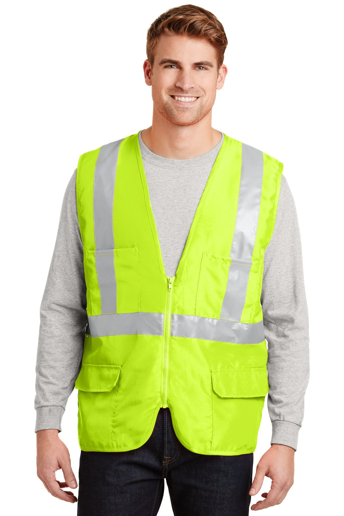 CornerStone® - ANSI 107 Class 2 Mesh Back Safety Vest. CSV405 - Aspire Zone