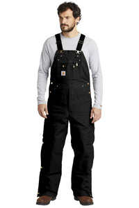 Carhartt ® Duck Quilt-Lined Zip-To-Thigh Bib Overalls. CTR41
