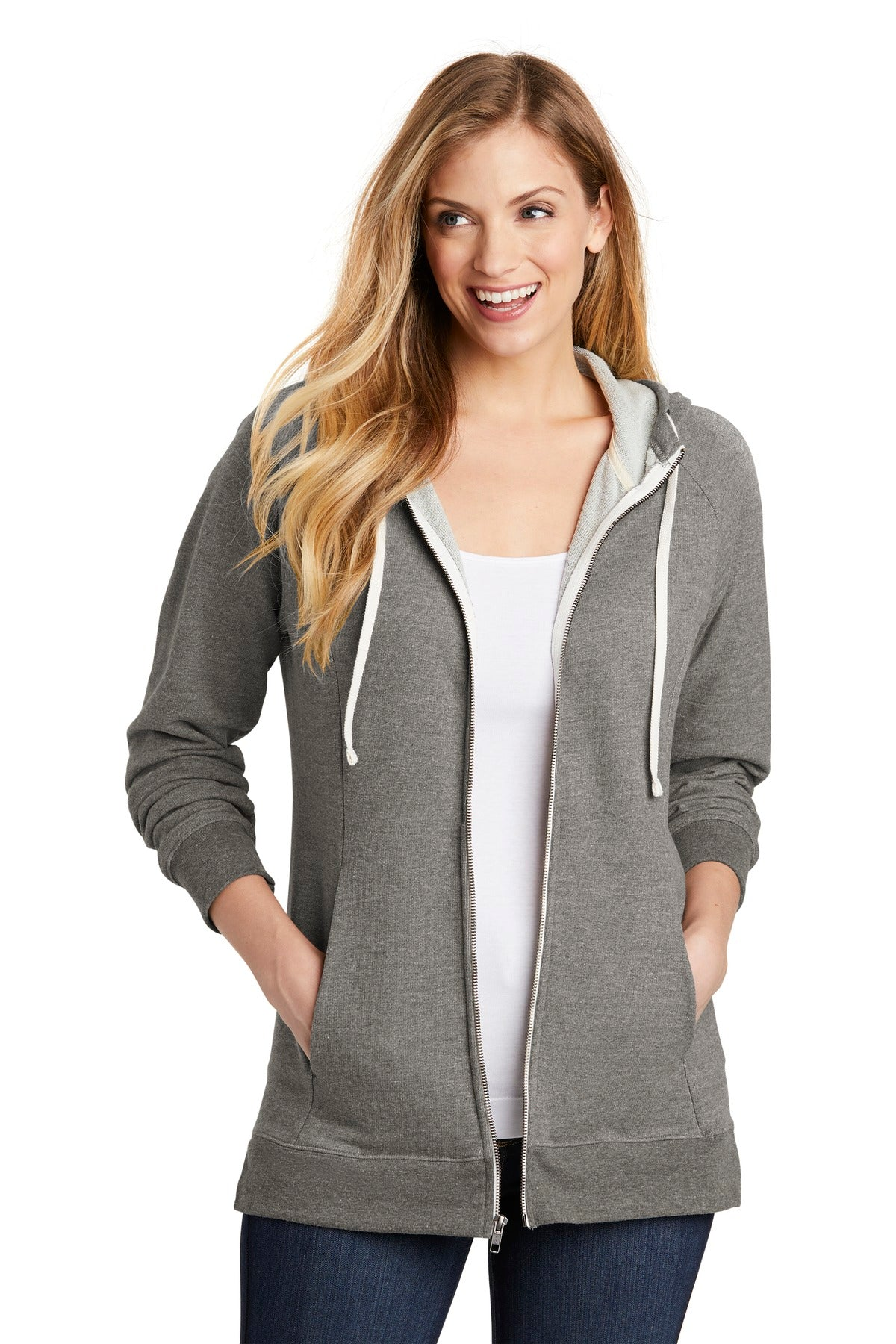 District ® Women's Perfect Tri ® French Terry Full-Zip Hoodie. DT456 - Aspire Zone