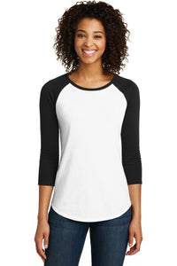 District® Women's Fitted Very Important Tee® 3/4-Sleeve Raglan. DT6211