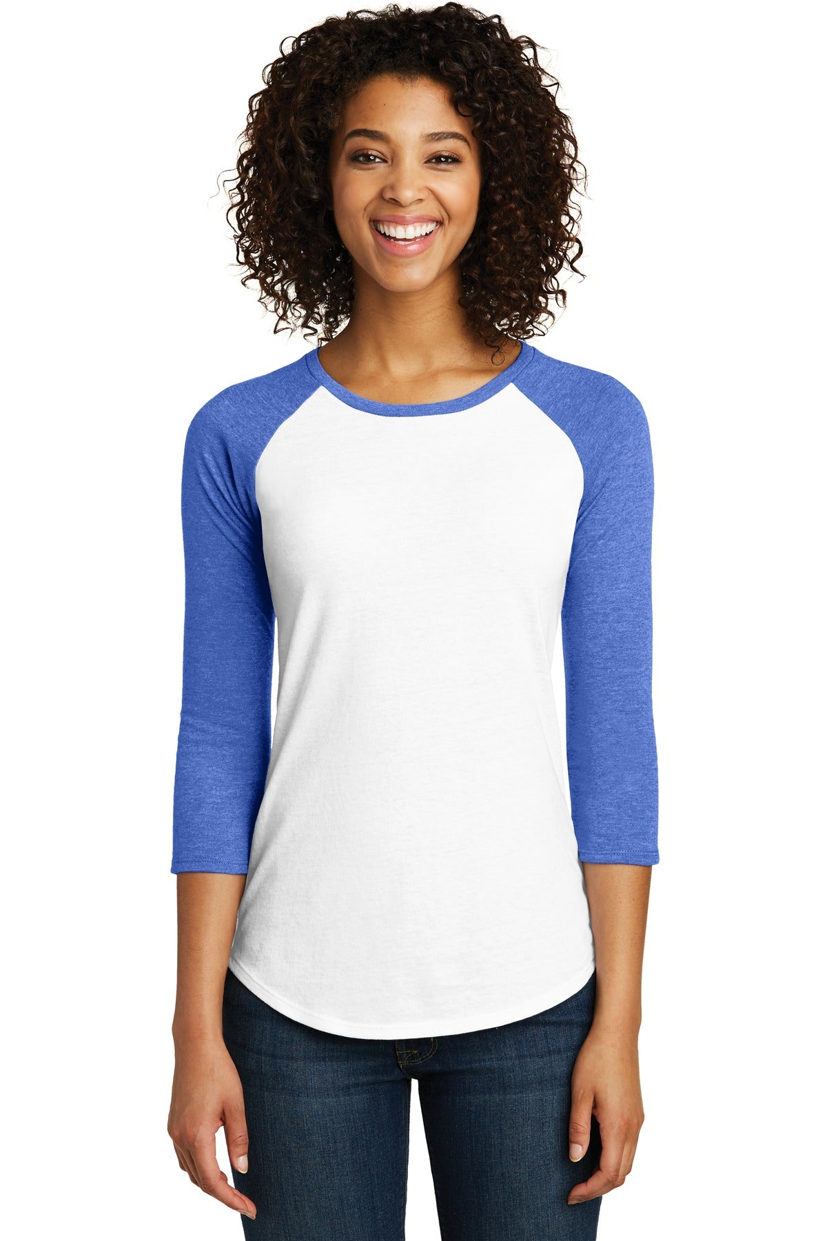 District® Women's Fitted Very Important Tee® 3/4-Sleeve Raglan. DT6211 - Aspire Zone