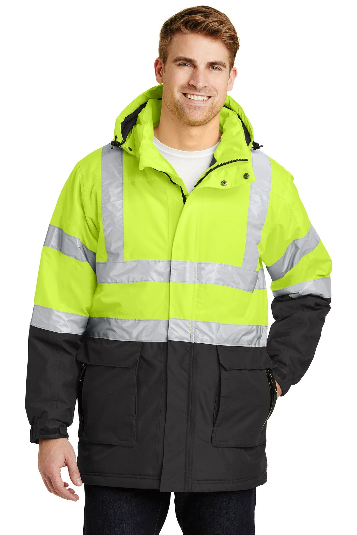 Port Authority® ANSI 107 Class 3 Safety Heavyweight Parka. J799S