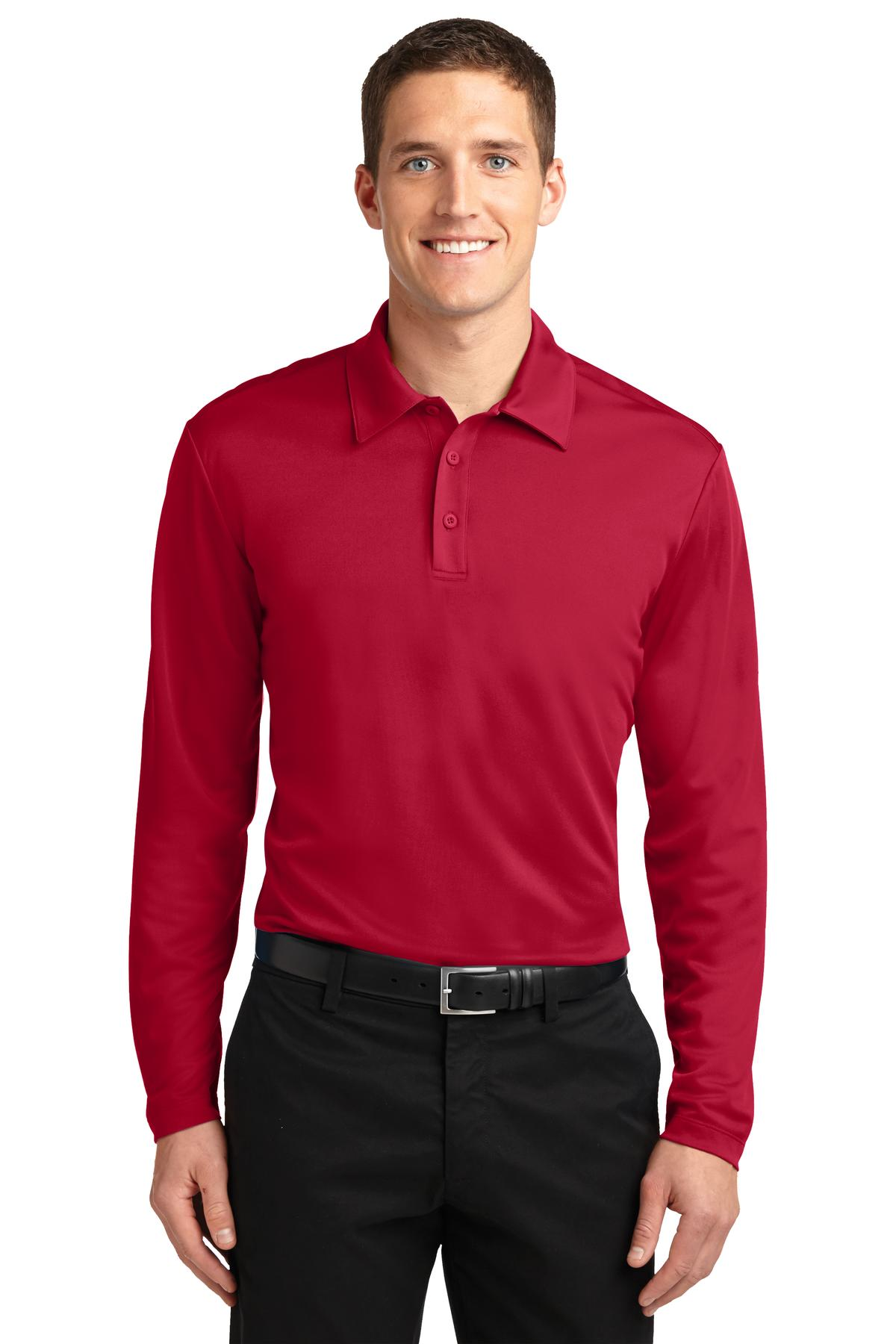Port Authority® Silk Touch™ Performance Long Sleeve Polo. K540LS