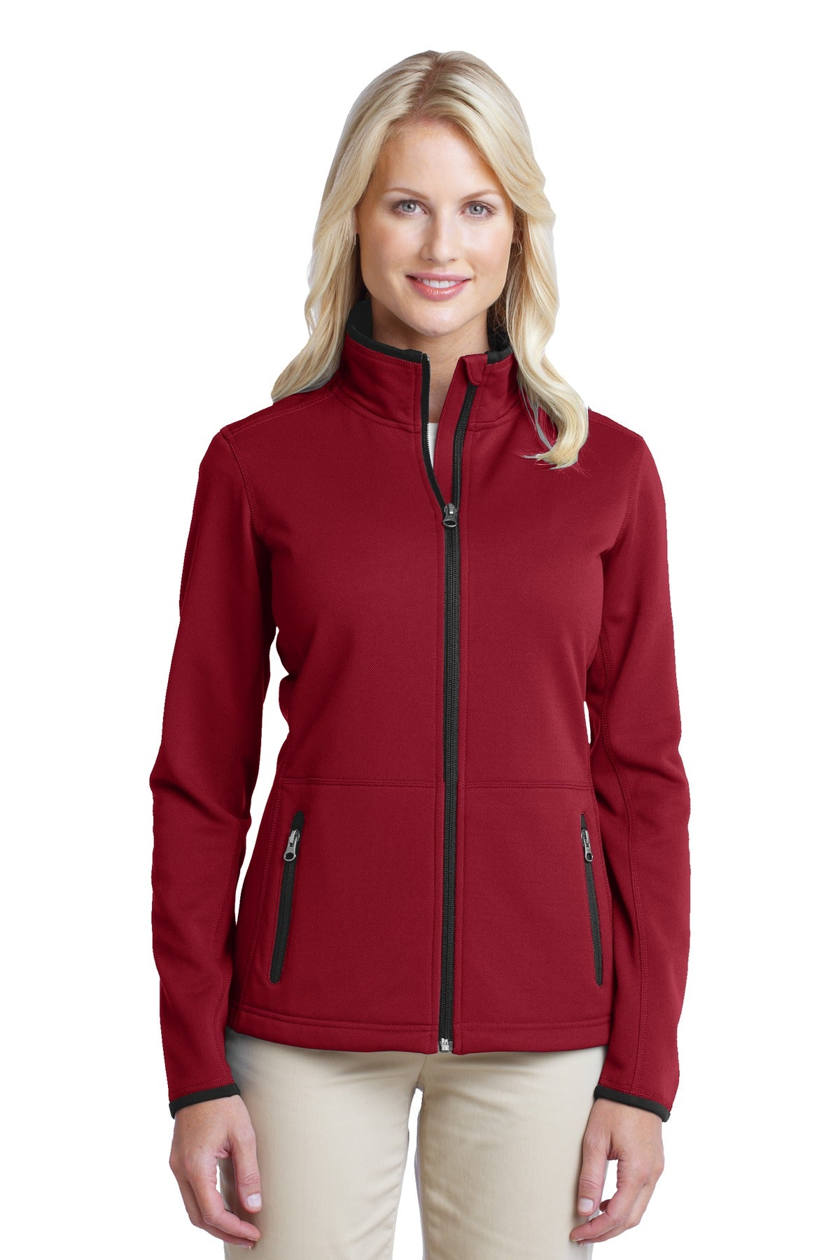 Port Authority® Ladies Pique Fleece Jacket. L222