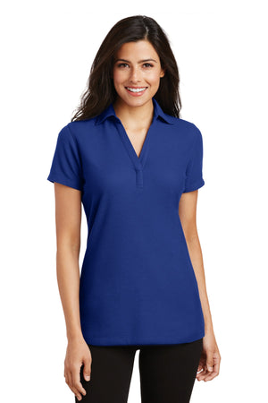 Port Authority® Ladies Silk Touch™ Y-Neck Polo. L5001