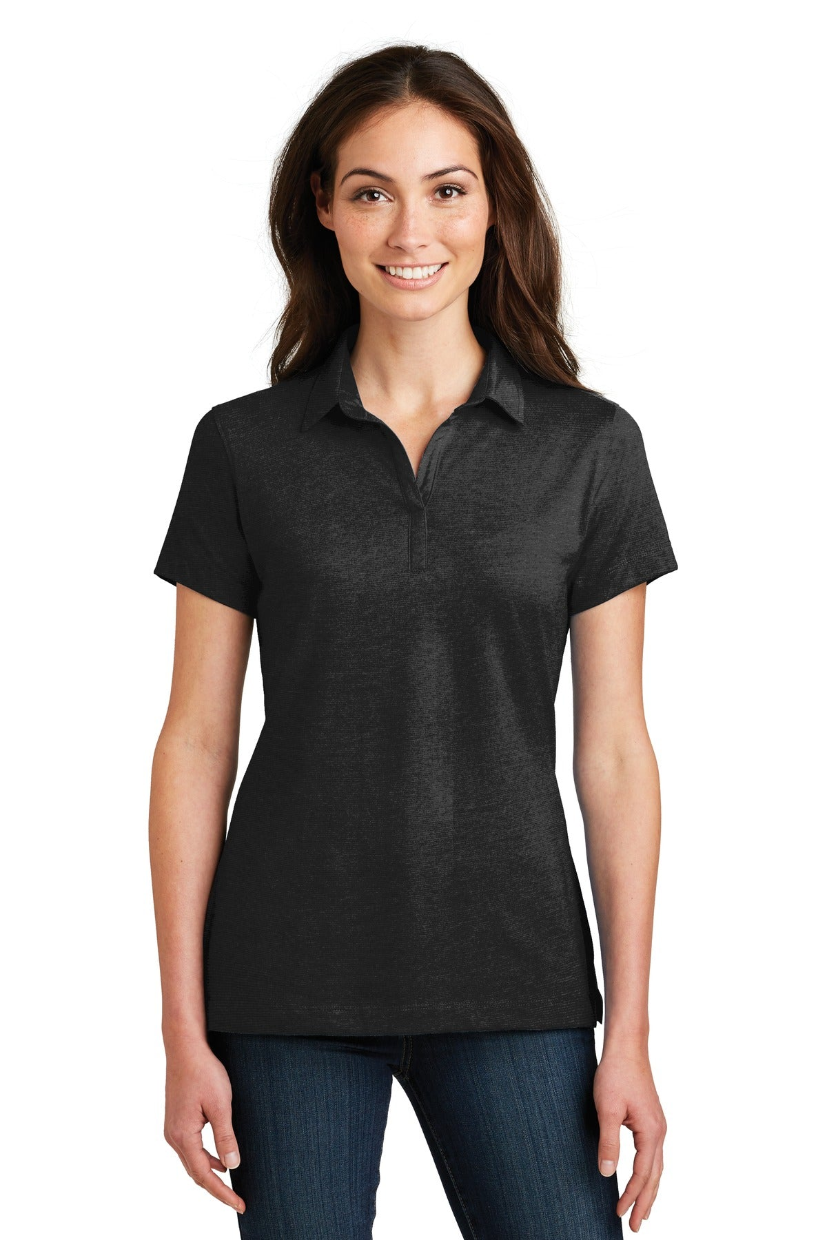 Port Authority® Ladies Meridian Cotton Blend Polo. L577