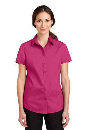 Port Authority® Ladies Short Sleeve SuperPro™ Twill Shirt. L664