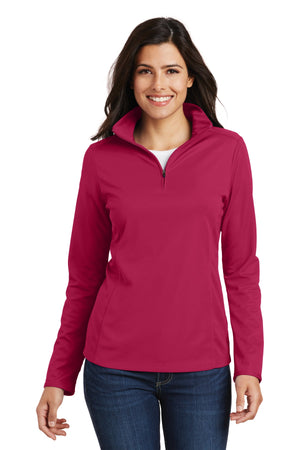 Port Authority® Ladies Pinpoint Mesh 1/2-Zip . L806