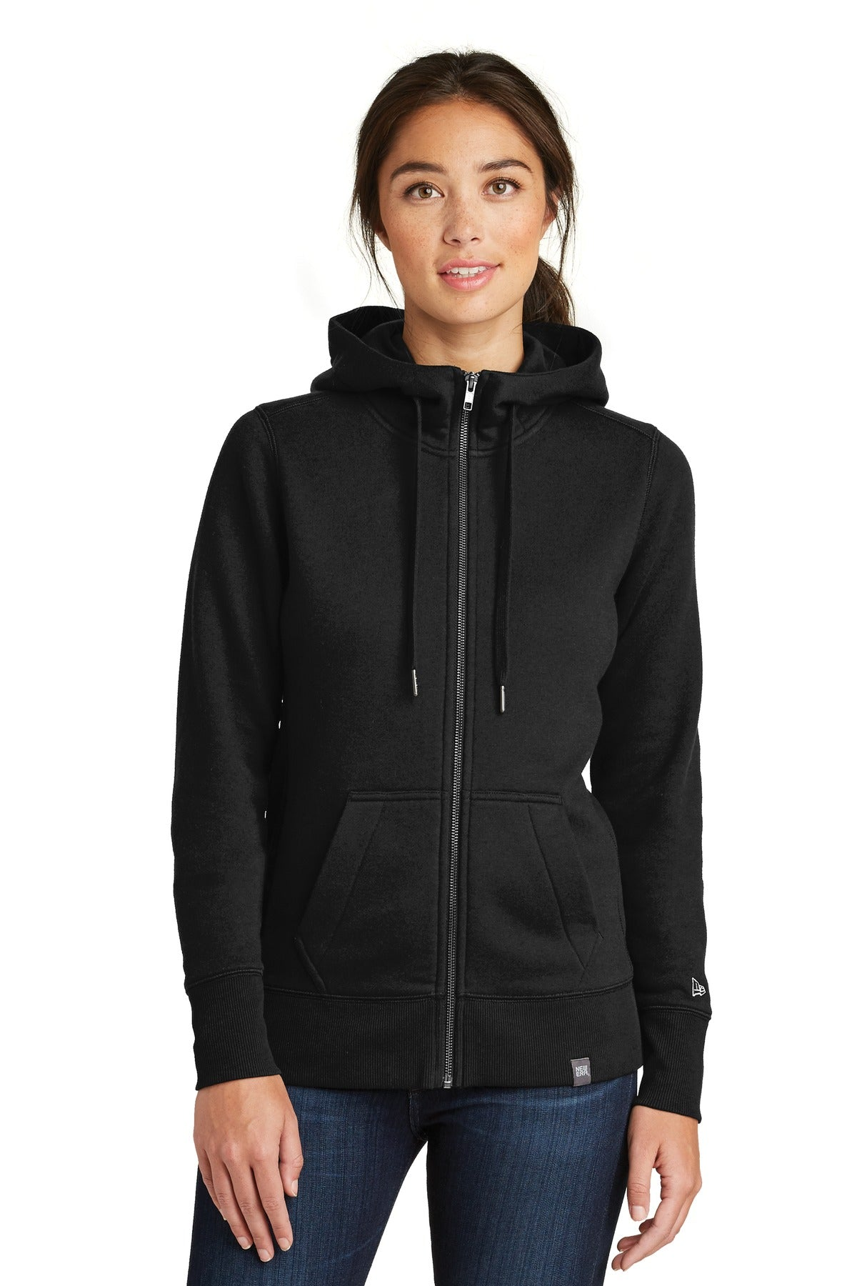 New Era ® Ladies French Terry Full-Zip Hoodie. LNEA502