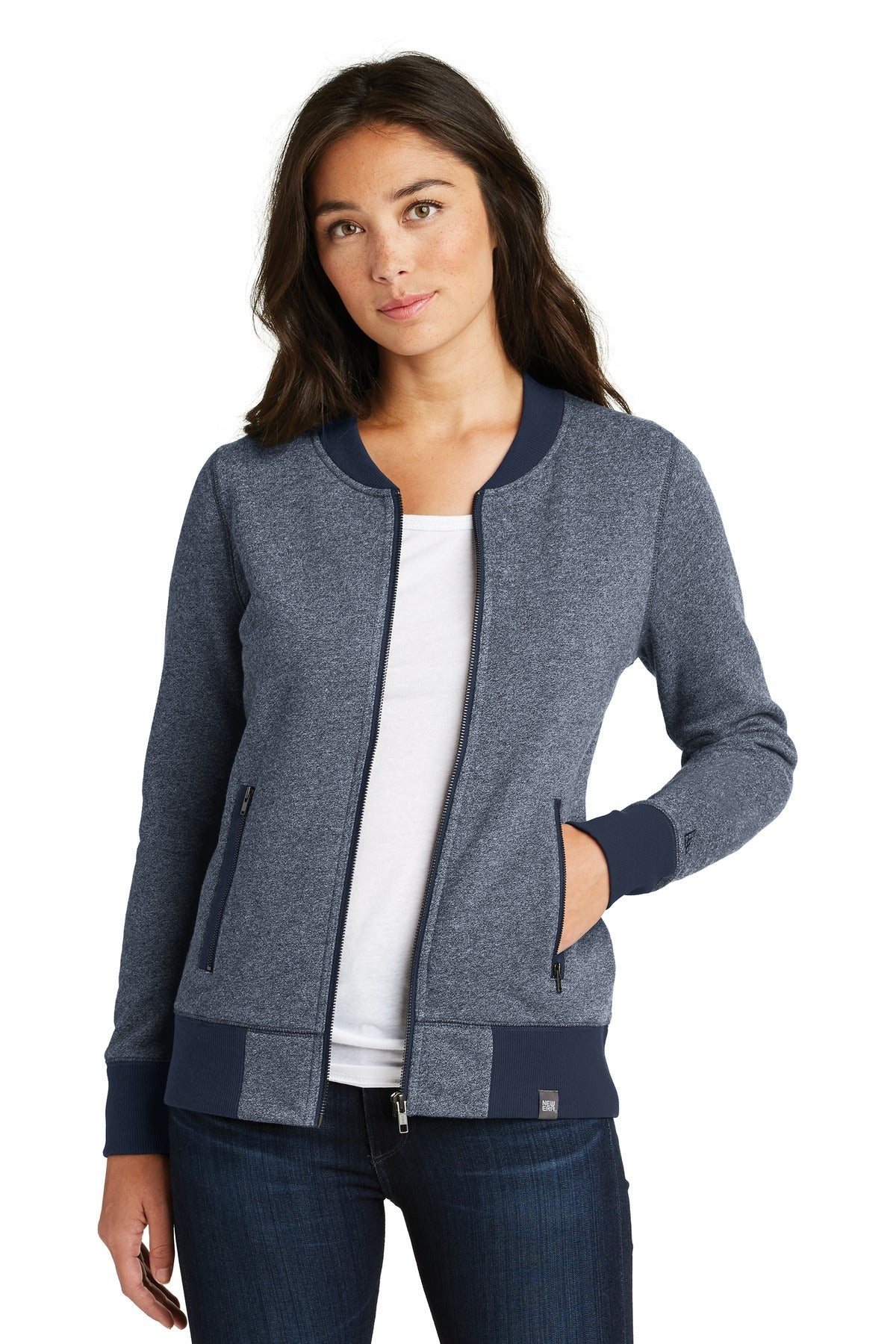 New Era ® Ladies French Terry Baseball Full-Zip. LNEA503 - Aspire Zone