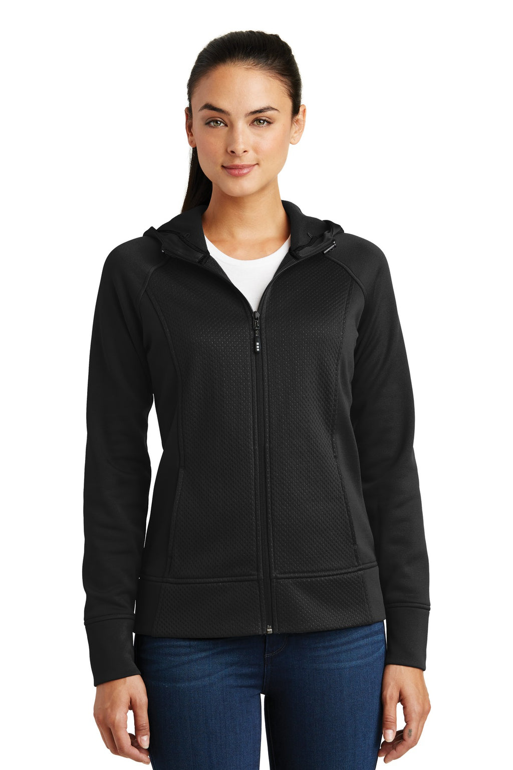 Sport-Tek® Ladies Rival Tech Fleece Full-Zip Hooded Jacket. LST295