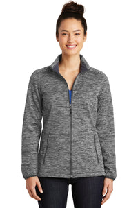 Sport-Tek® Ladies PosiCharge® Electric Heather Soft Shell Jacket. LST30
