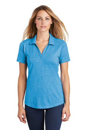 Sport-Tek ® Ladies PosiCharge ® Tri-Blend Wicking Polo. LST405