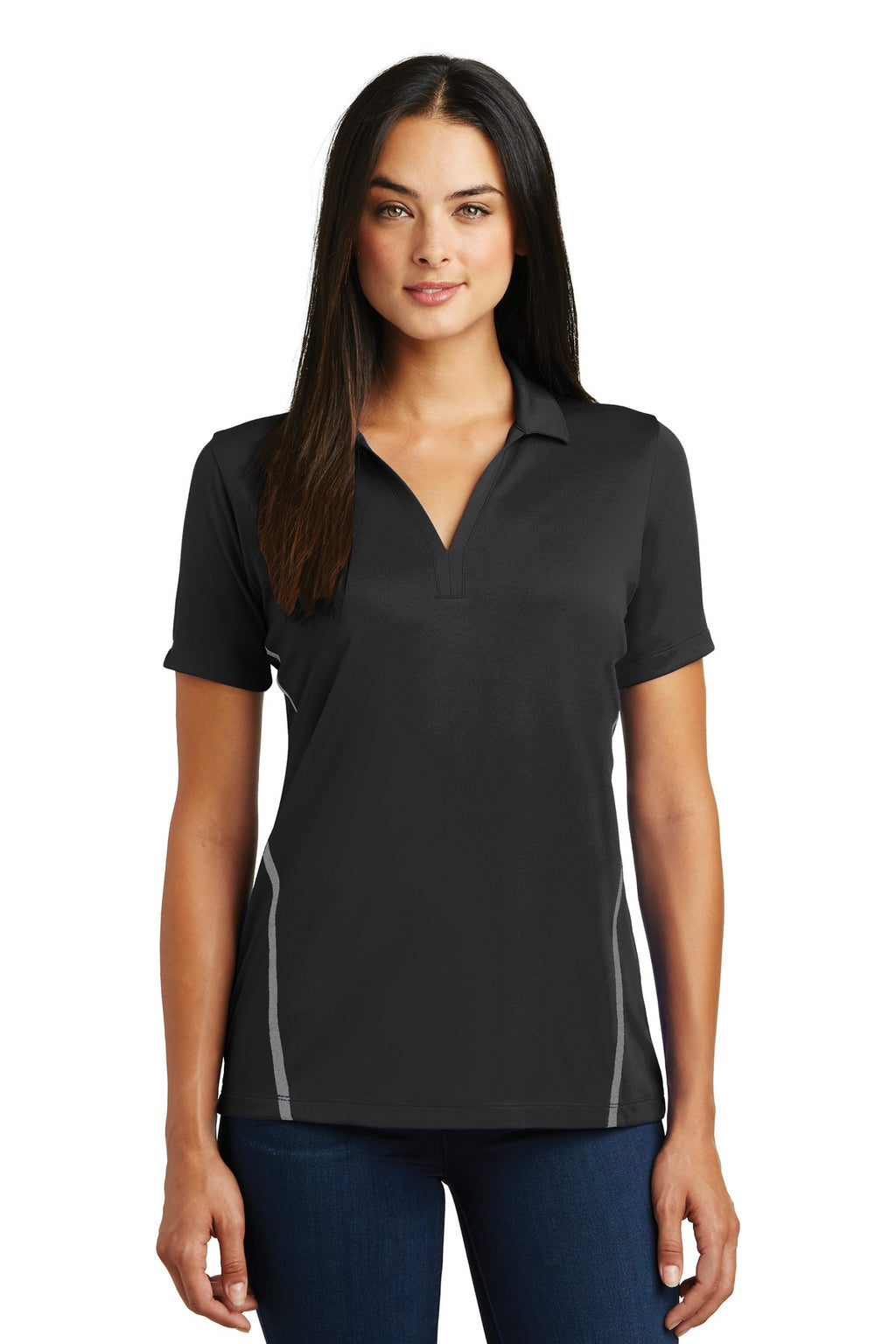 Sport-Tek® Ladies Contrast PosiCharge® Tough Polo®. LST620