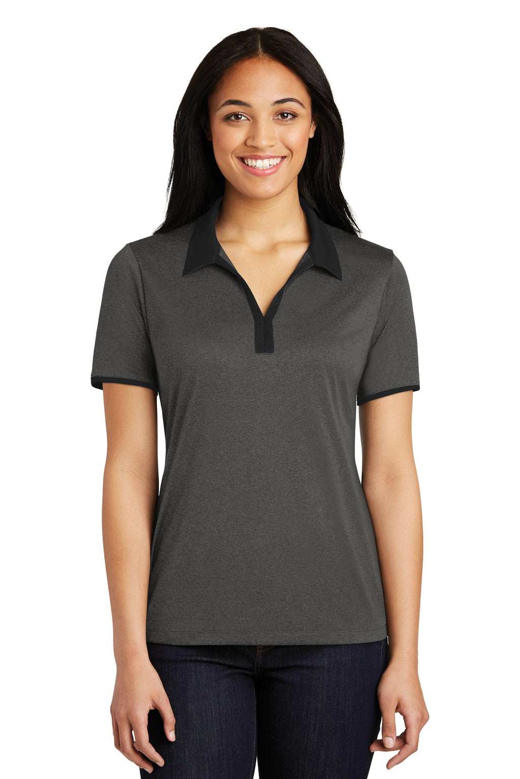 Sport-Tek® Ladies Heather Contender™ Contrast Polo. LST667