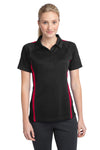 Sport-Tek® Ladies PosiCharge® Micro-Mesh Colorblock Polo. LST685
